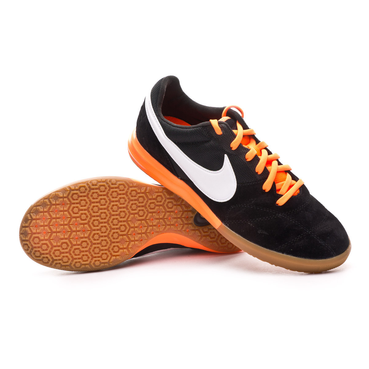 Original Casa de la carretera Pronombre  Futsal Boot Nike Tiempo Premier II Sala IC Black-White-Total orange -  Football store Fútbol Emotion