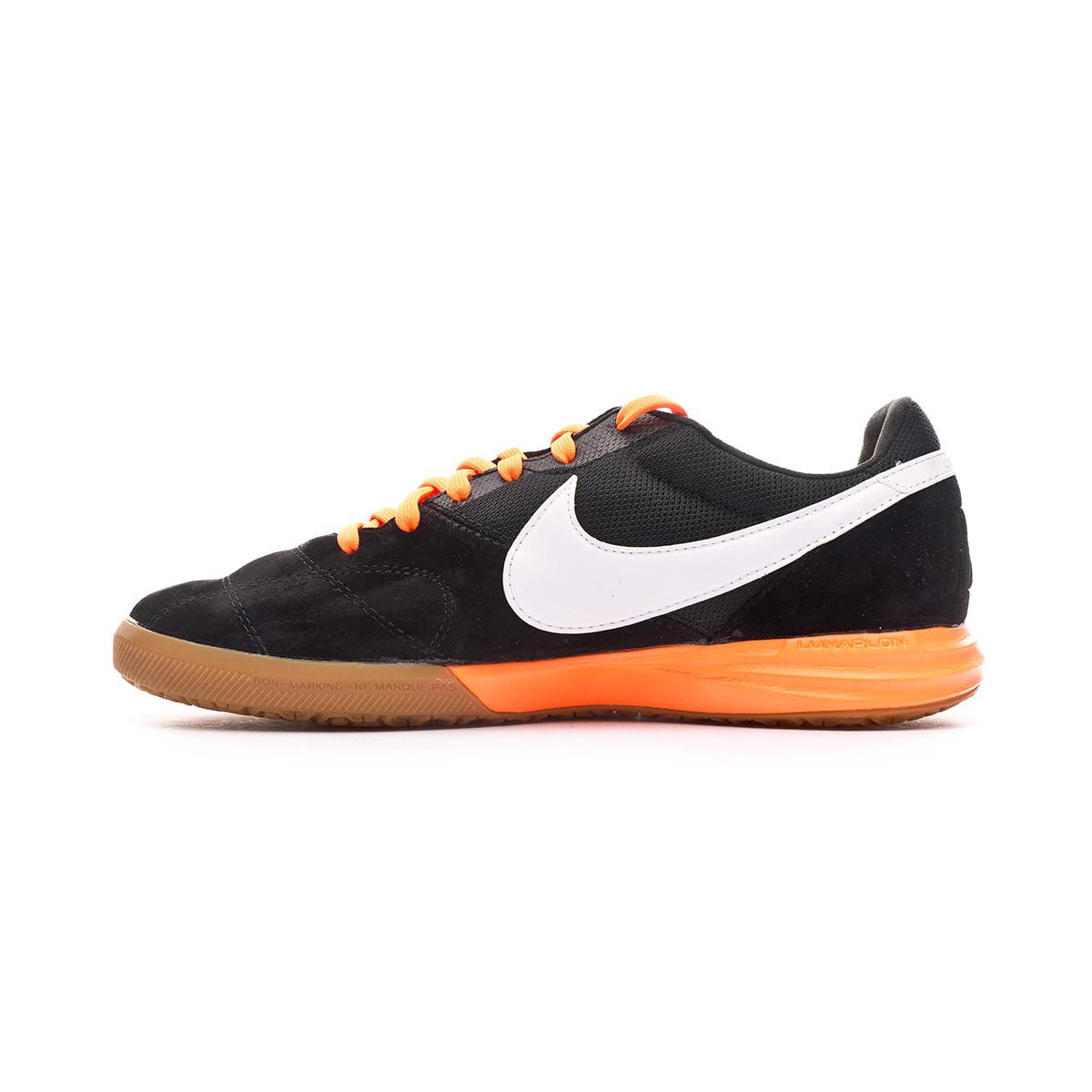 Original Casa de la carretera Pronombre  Futsal Boot Nike Tiempo Premier II Sala IC Black-White-Total orange -  Football store Fútbol Emotion