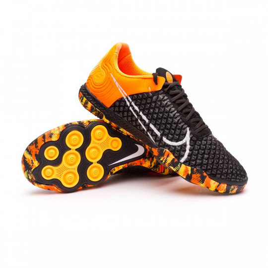Sapatilha de Futsal Nike React Gato Black White Total orange Dark smoke grey