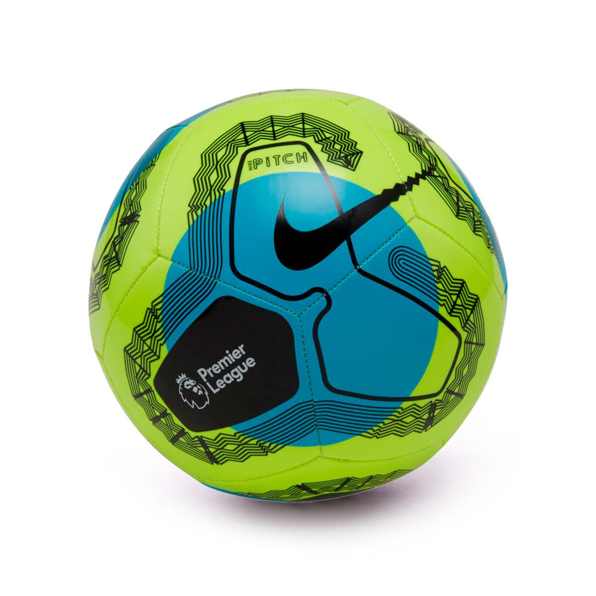 Arreglo Remisión Desafortunadamente  Ball Nike Premier League Pitch 2019-2020 Volt-Light blue-Black - Football  store Fútbol Emotion