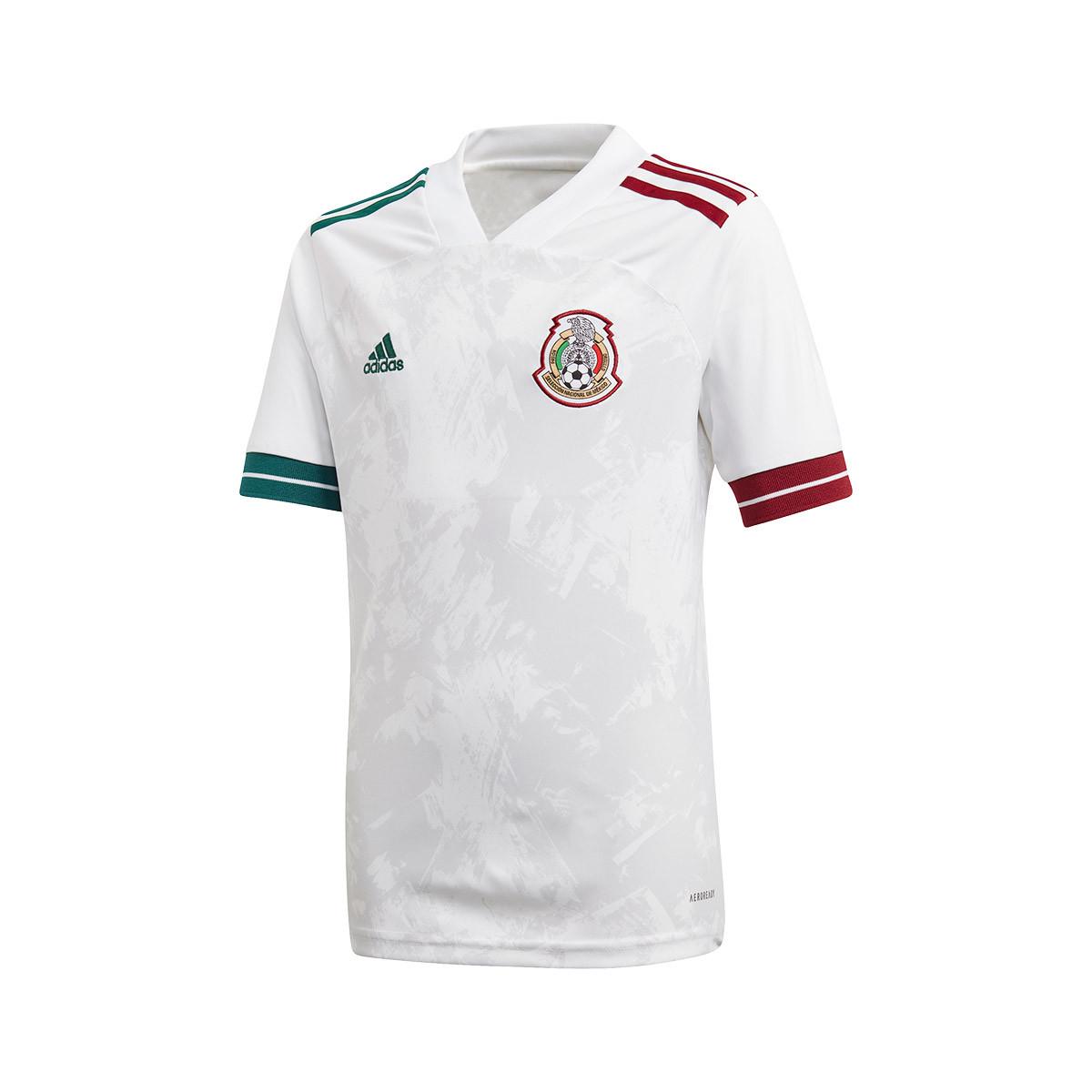 Santo educar borgoña  Playera adidas Mexico Segunda Equipación 2020-2021 White - Tienda de fútbol  Fútbol Emotion