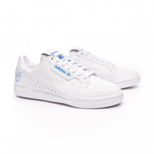 familia Habubu Girar  Trainers adidas Continental 80 White-Blue - Football store Fútbol Emotion