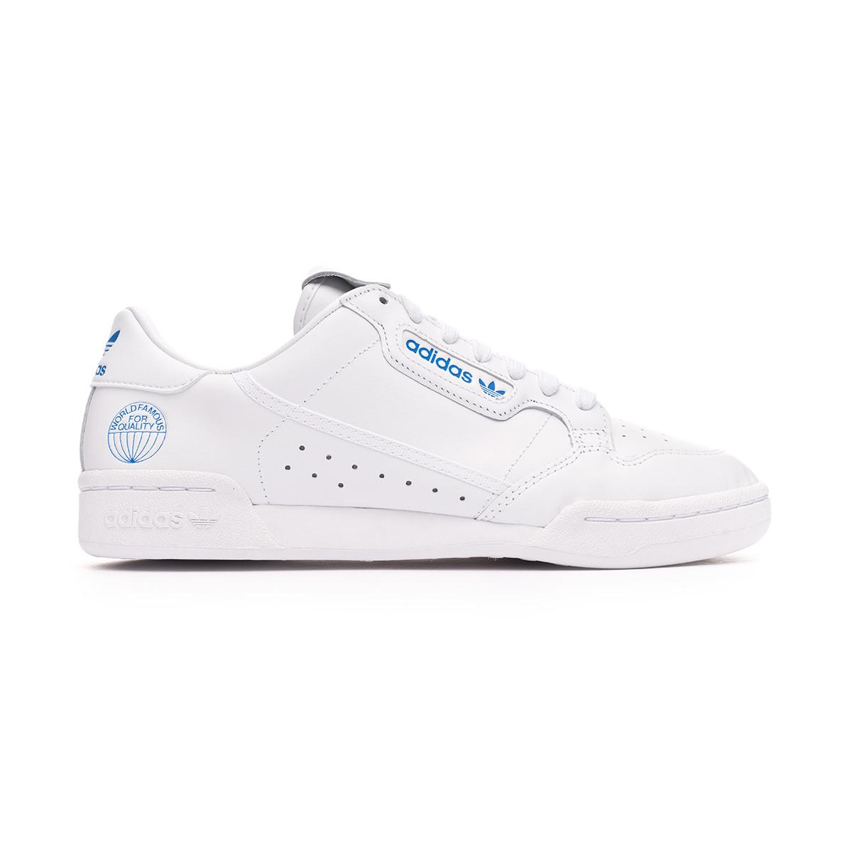 peculiare Leccare atomo  Scarpe adidas Continental 80 White-Blue - Negozio di calcio Fútbol Emotion