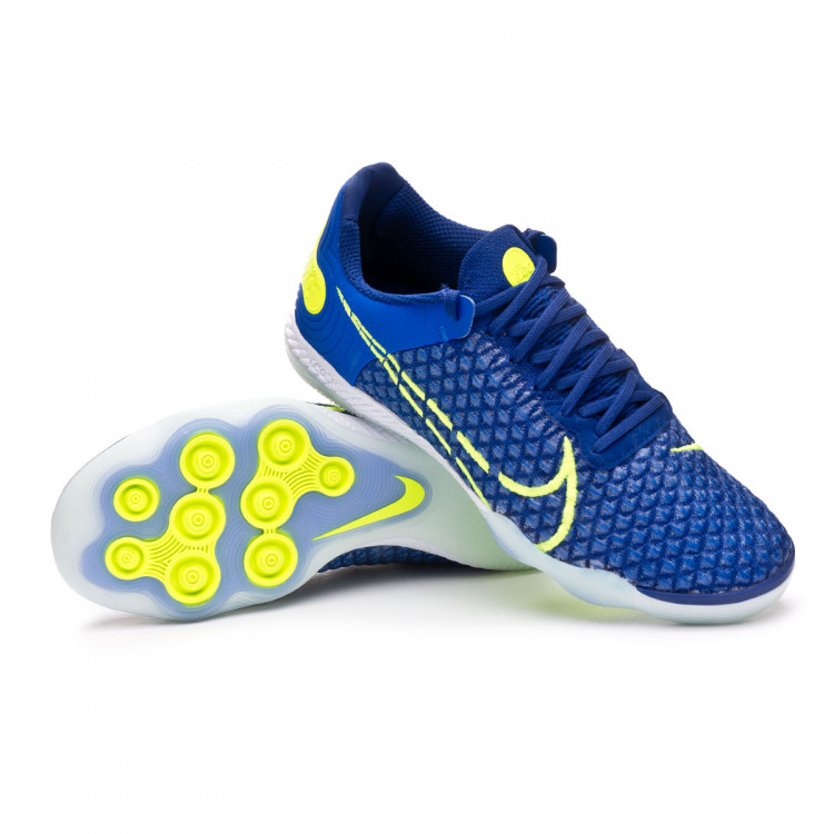 Futsal Boot Nike React Gato Racer blue-Volt-Deep royal blue-White ...