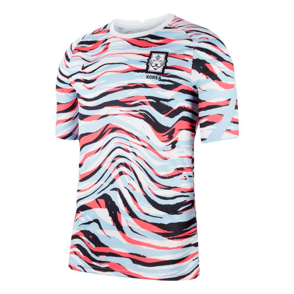 Rezumar salir Malawi  Camiseta Nike South Korea Pre Match Top 2020-2021 White-Royal tint-Black -  Tienda de fútbol Fútbol Emotion