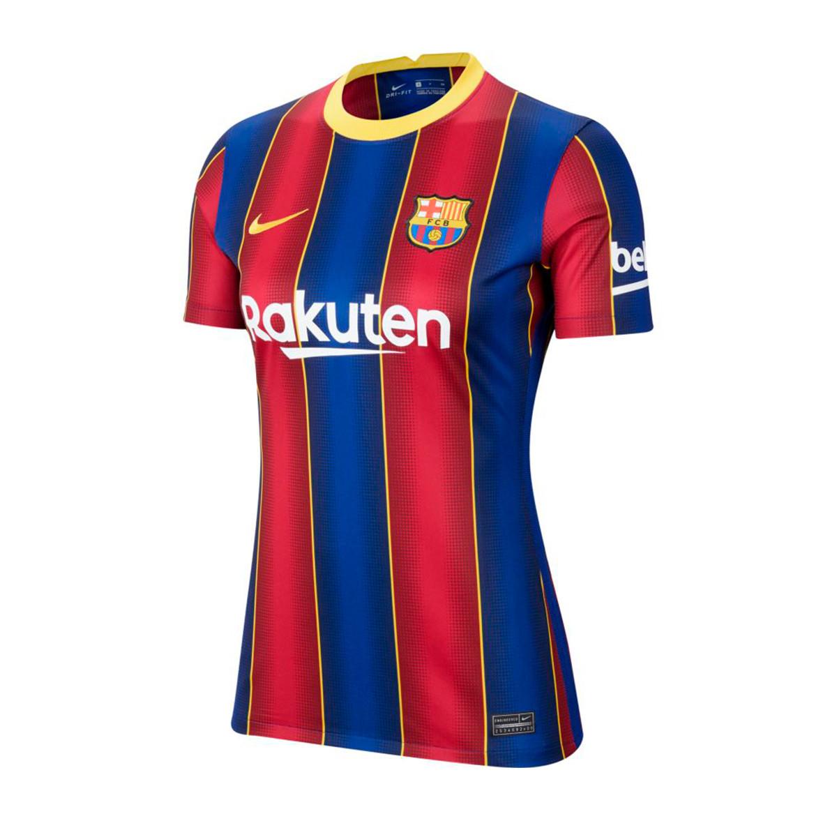 Jersey Nike Fc Barcelona Stadium Primera Equipacion 2020 2021 Mujer Deep Royal Blue Varsity Maize Football Store Futbol Emotion
