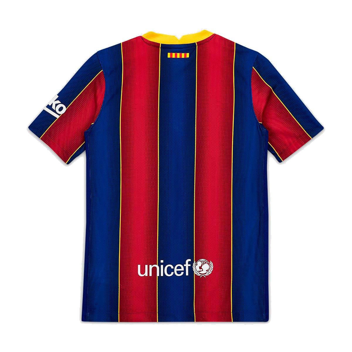 Jersey Nike Fc Barcelona Vapor Match Primera Equipacion 2020 2021 Nino Deep Royal Blue Varsity Maize Football Store Futbol Emotion