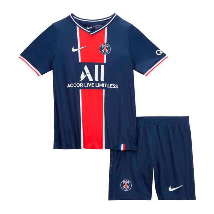 Kit Nike Paris Saint Germain Primera Equipacion 2020 2021 Nino Midnight Navy White Football Store Futbol Emotion