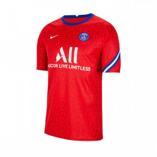 Jersey Nike Paris Saint Germain Pre Match Top 2020 2021 University Red Old Royal White Football Store Futbol Emotion