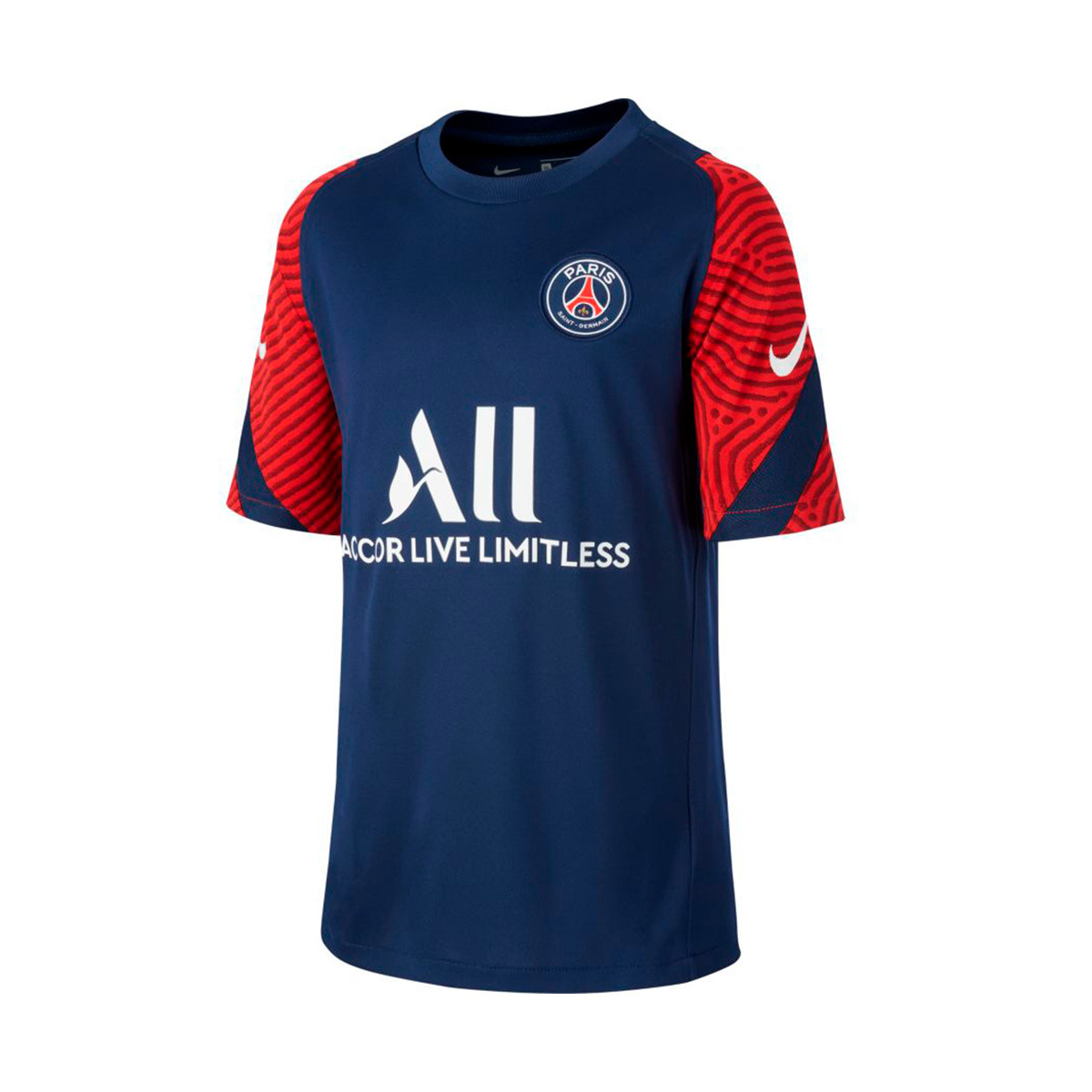 Jersey Nike Paris Saint Germain Strike Top 2020 2021 Nino Midnight Navy White Football Store Futbol Emotion