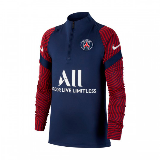Sweatshirt Nike Paris Saint Germain Dri Fit Strike Dril Top 2020 2021 Nino Midnight Navy White Football Store Futbol Emotion