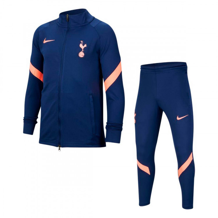 Tracksuit Nike Tottenham Hotspur Fc Dri Fit Strike 2020 2021 Nino Binary Blue Lava Glow Football Store Futbol Emotion