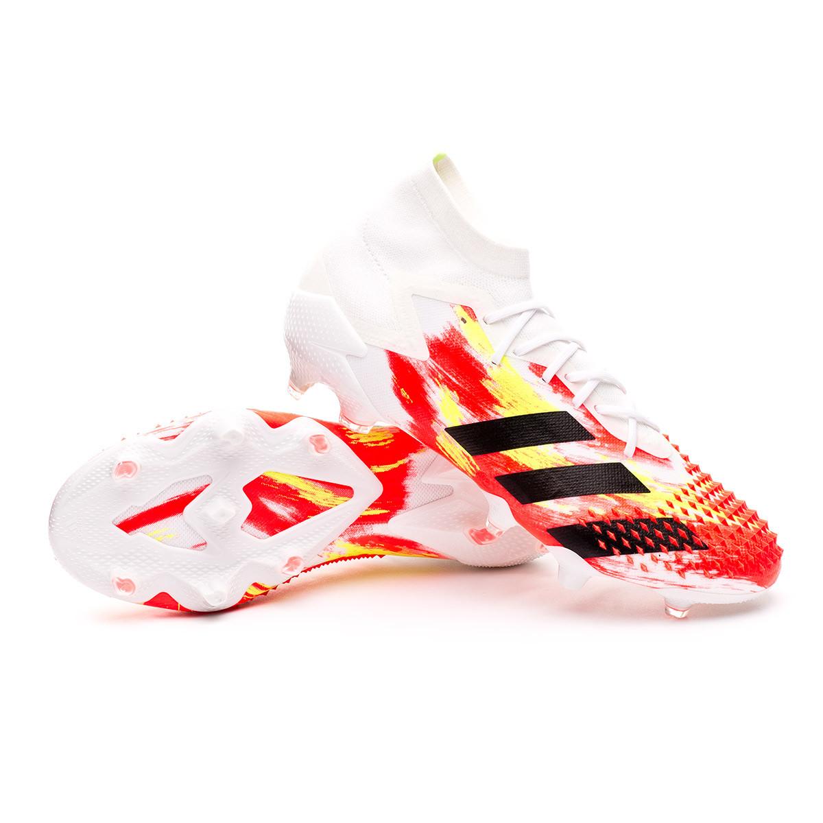 estafa cálmese Inspector  Football Boots adidas Predator 20.1 FG White-Black-Pop - Football store Fútbol  Emotion