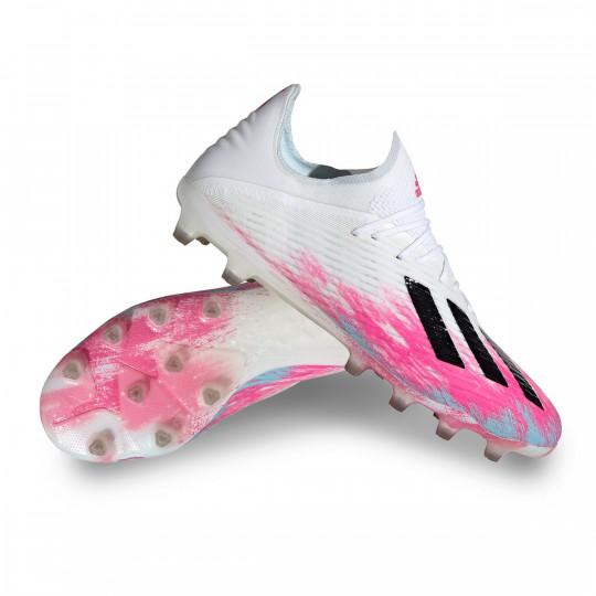 Además Cerveza Acostumbrarse a  Bota de fútbol adidas X 19.1 AG White-Black-Shock pink - Tienda de fútbol  Fútbol Emotion