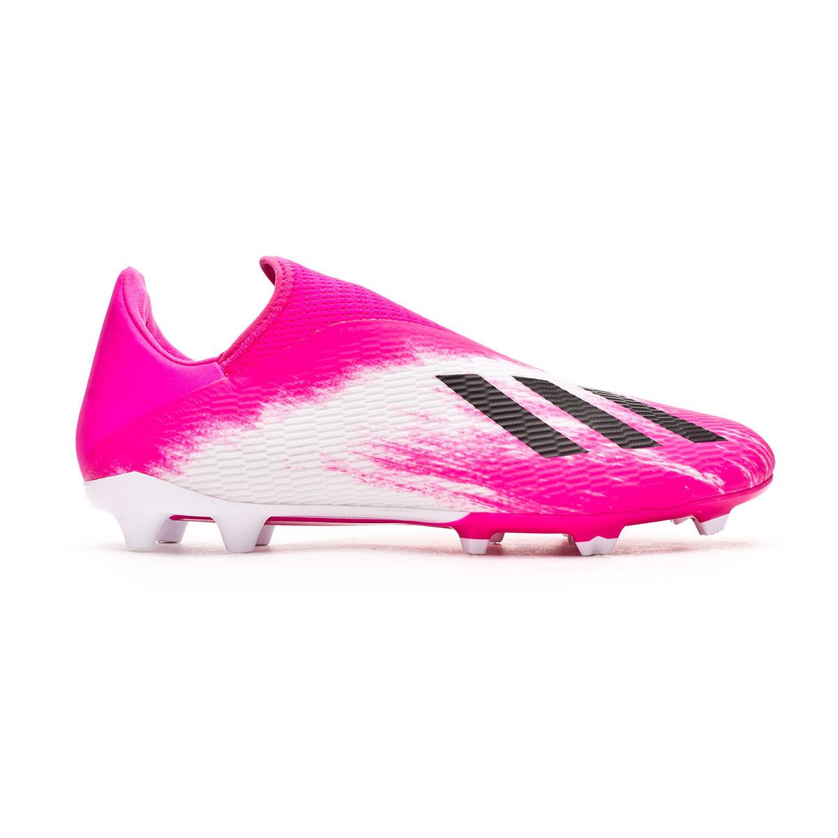 al menos lobo Abiertamente  Football Boots adidas X 19.3 LL FG White-Black-Shock pink - Football store  Fútbol Emotion