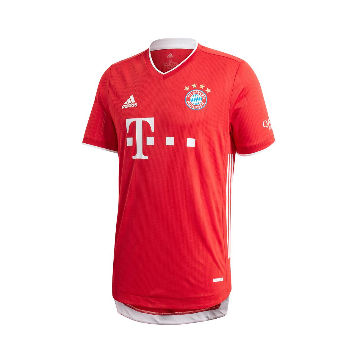 Camiseta adidas FC Bayern Munich Primera Equipación Authentic 2020-2021 True red - Fútbol Emotion