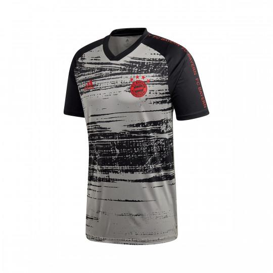 Jersey adidas FC Bayern Munich Pre Match 2020-2021 Dove grey-Black