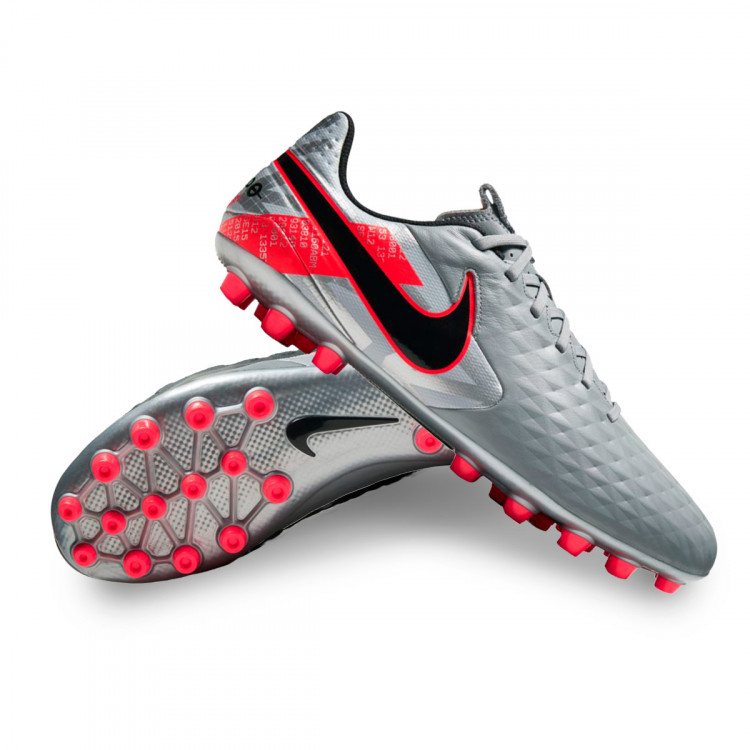 A fondo pago empresario  Football Boots Nike Tiempo Legend VIII Academy AG Metallic bomber  grey-Black-Particle grey-Lase - Football store Fútbol Emotion