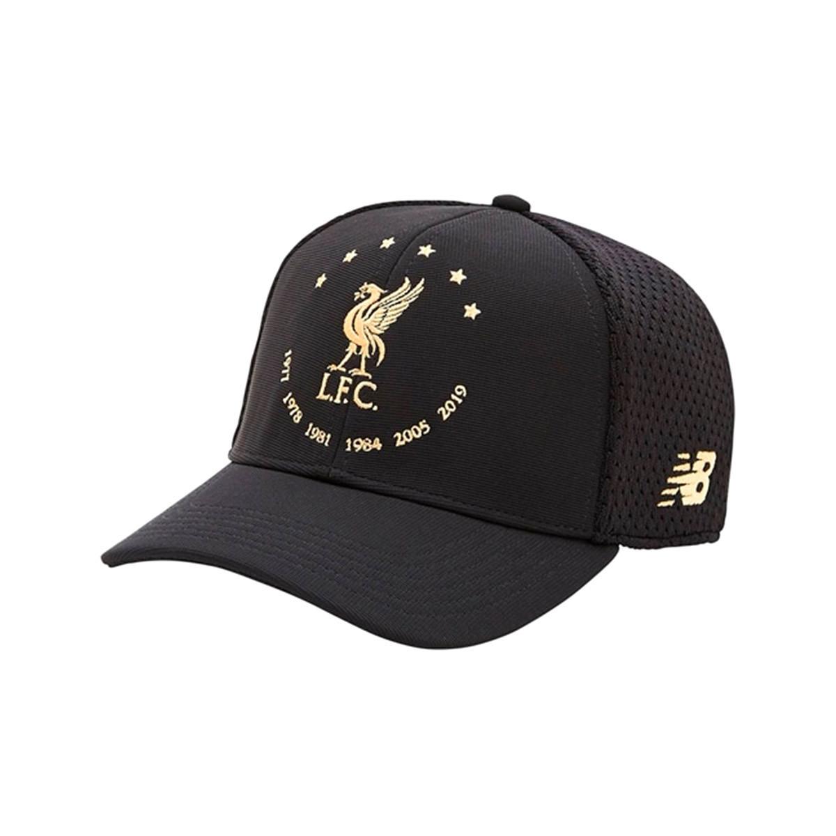 Cap New Balance Liverpool Fc 6 Times Ed Signature 2019 2020 Black Gold Football Store Futbol Emotion