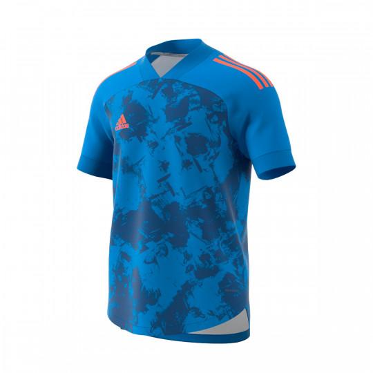 Camiseta adidas Condivo 20 mc Niño Sharp blue True orange