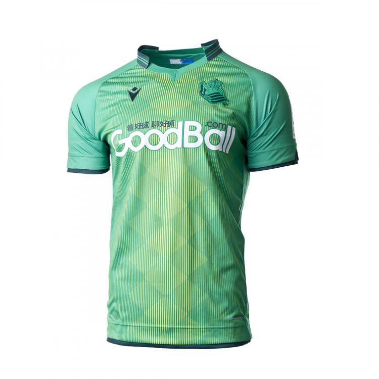 Jersey Macron Real Sociedad Segunda Equipacion Sponsor 2019 2020 Green Football Store Futbol Emotion