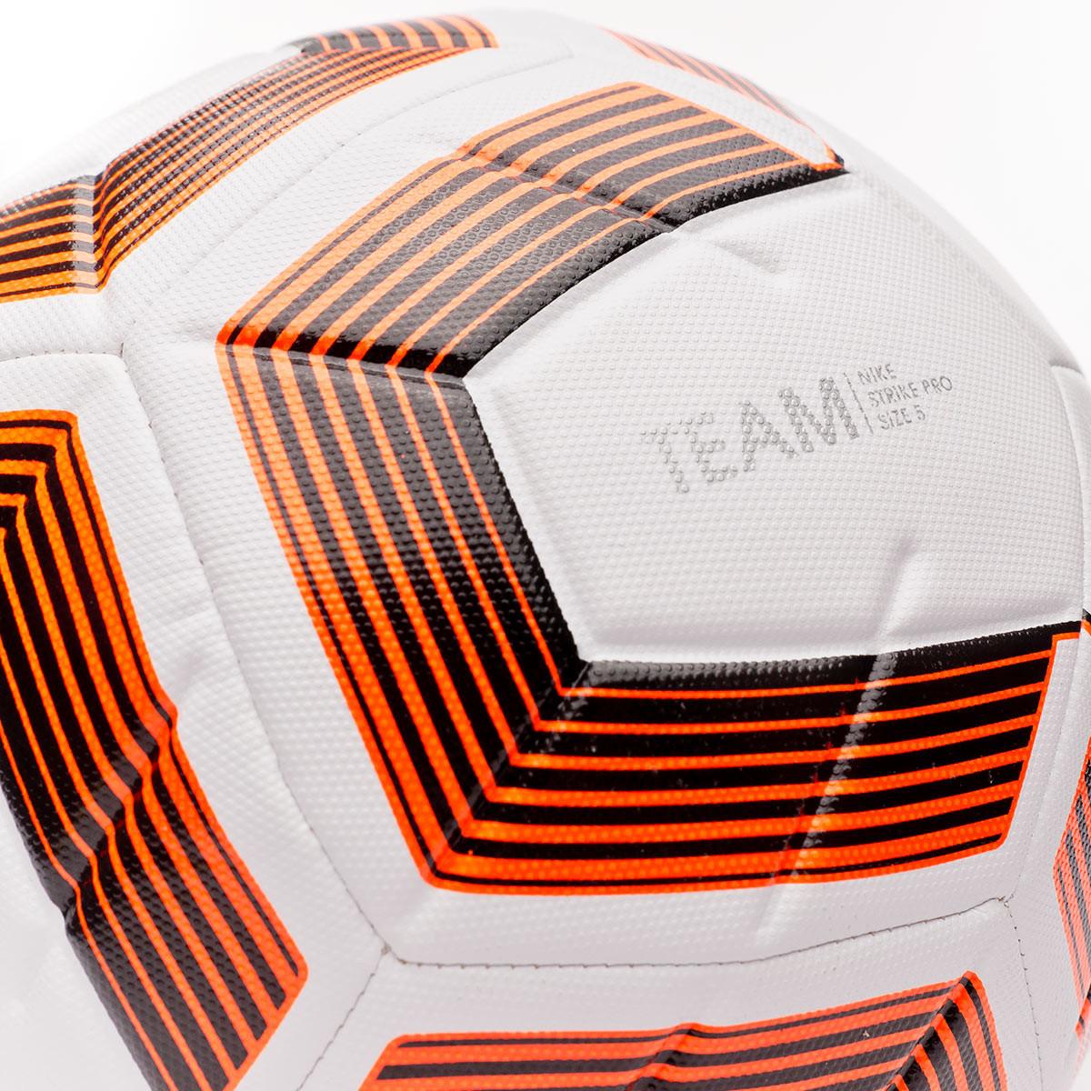 Hizo un contrato Confusión Maestría  Ball Nike Strike Pro Team White-Black-Total orange - Football store Fútbol  Emotion