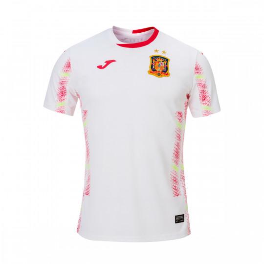Redondear a la baja rebanada Vadear  Camiseta Joma España Fútbol Sala Segunda Equipación 2020 Blanco - Tienda de fútbol  Fútbol Emotion