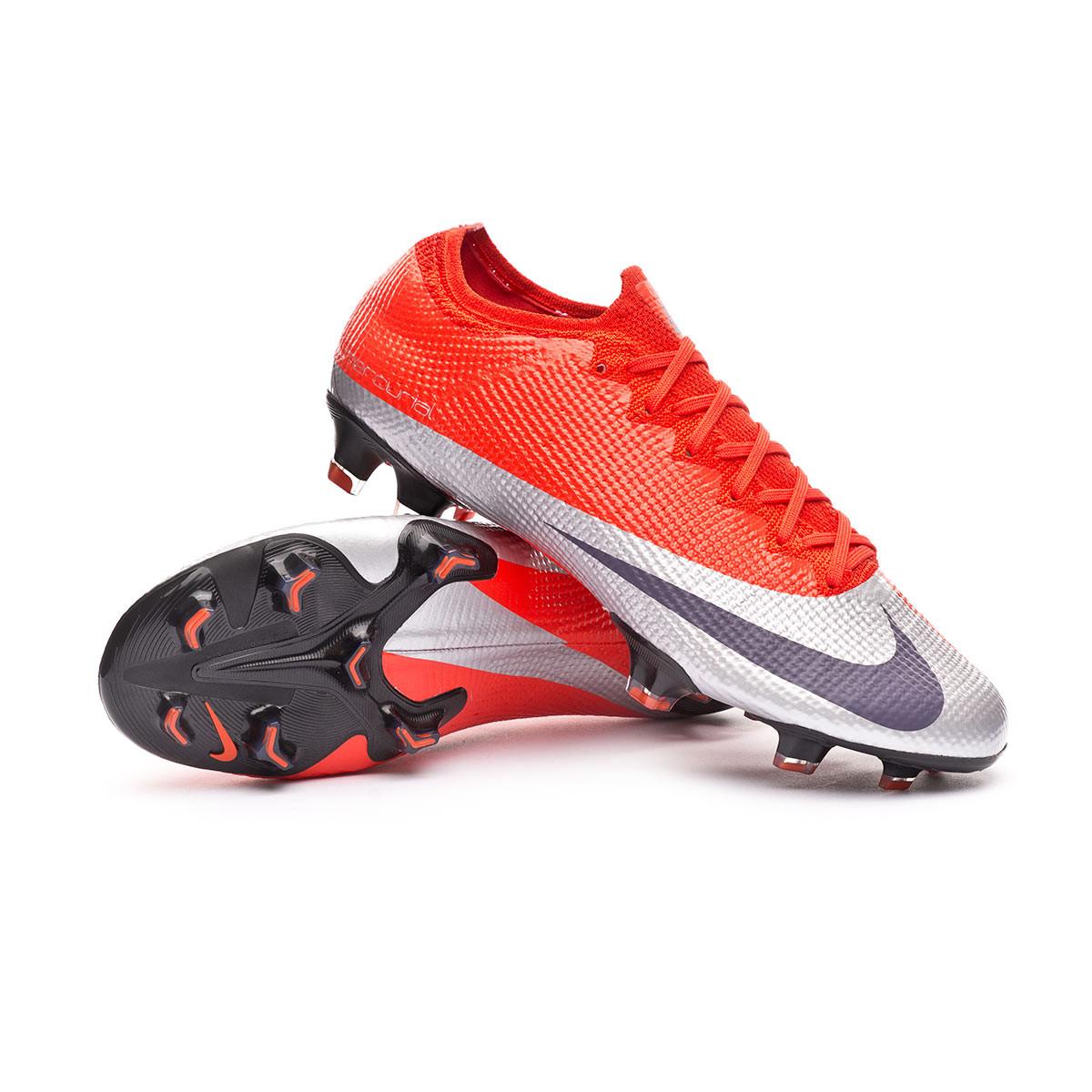 ama de casa Funeral Mula  Football Boots Nike Mercurial Vapor XIII Elite FG Max orange-Metallic  silver-Black - Football store Fútbol Emotion