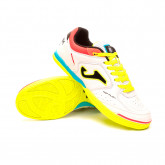 Futsal Boot Top Flex RFEF White-Blue-Yellow-Coral