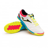 Futsal Boot Cancha RFEF White-Blue-Yellow-Coral