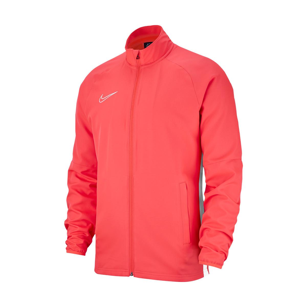 Superioridad trabajo Con rapidez  Jacket Nike Academy 19 Knit Woven Bright crimson-White - Football store  Fútbol Emotion