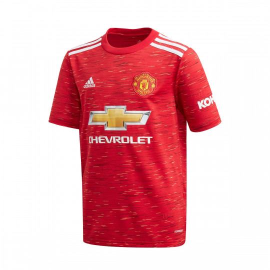 jersey adidas manchester united fc primera equipacion 2020 2021 nino real red football store futbol emotion jersey adidas manchester united fc primera equipacion 2020 2021 nino real red