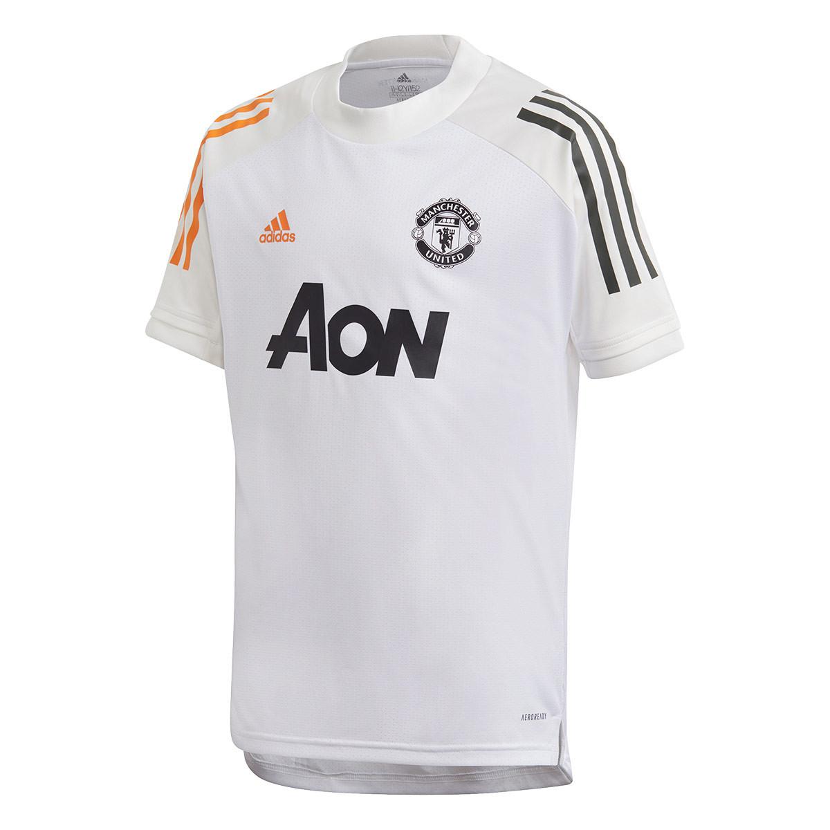maglia adidas manchester united fc training 2020 2021 nino white negozio di calcio futbol emotion maglia adidas manchester united fc training 2020 2021 nino