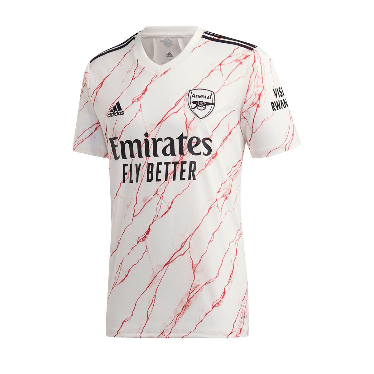 Jersey Adidas Arsenal Fc 2020 2021 Away Cloud White Black Football Store Futbol Emotion
