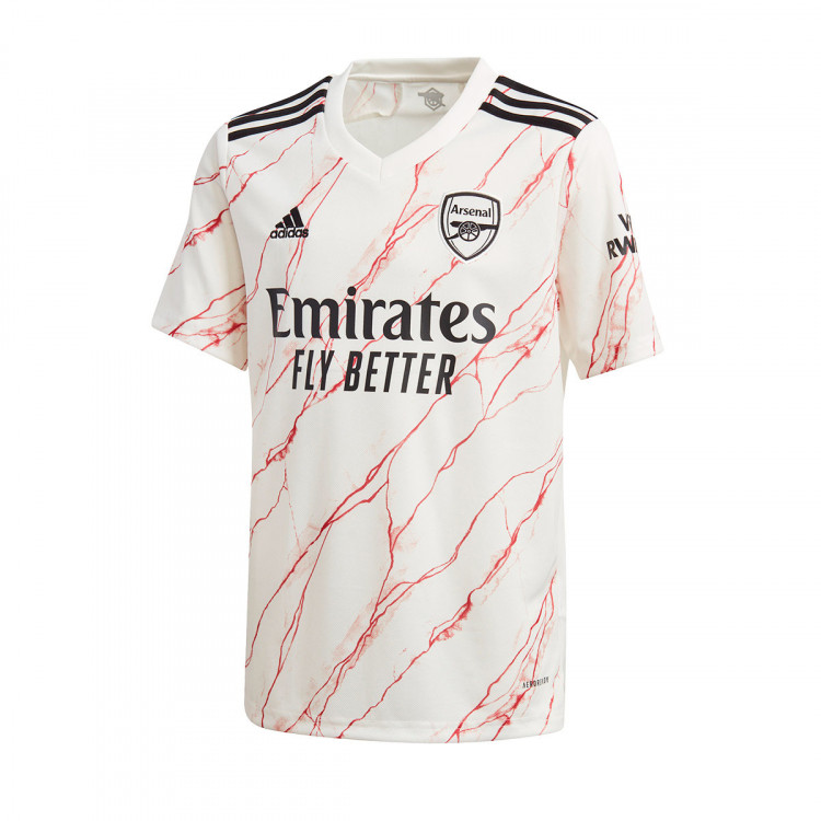 Jersey Adidas Kids Arsenal Fc 2020 2021 Away Cloud White Black Football Store Futbol Emotion