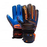 Glove Kids Attrakt SG Extra Finger Support Black-Shocking orange-Deep blue