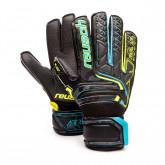 Glove Kids Attrakt RG Open Cuff Finger Support Black-Safety yellow-Black