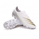 Chaussure de foot X Ghosted.3 MG White-Metallic gold melange-Silver metallic