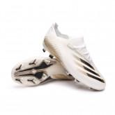 Scarpe X Ghosted.1 FG Bambino White-Black-Metallic gold melange