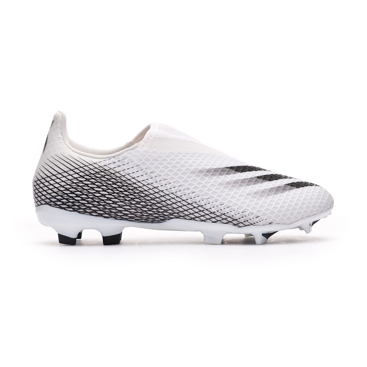 Corta vida código postal cable  Bota de fútbol adidas X Ghosted.3 LL FG Niño White-Core black-White -  Tienda de fútbol Fútbol Emotion