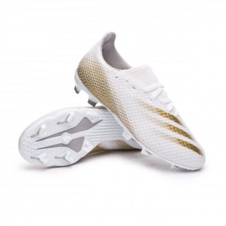 X Ghosted.3 FG Kids White-Metallic gold melange-Grey two