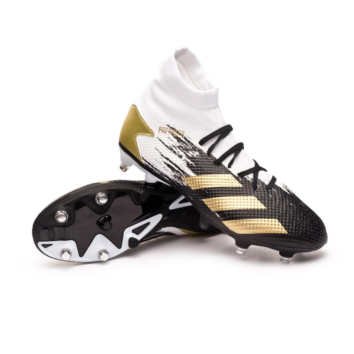 adolescentes Tristemente Volver a llamar  Bota de fútbol adidas Predator 20.3 SG White-Gold metallic-Core black -  Tienda de fútbol Fútbol Emotion