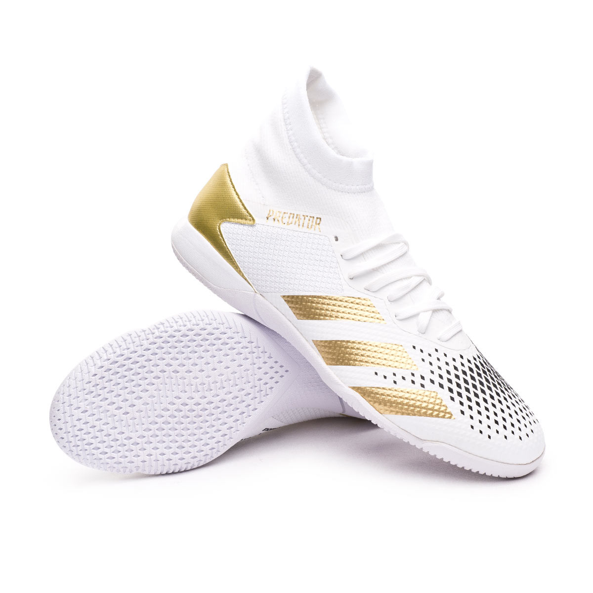 Chaussure de futsal adidas Predator 20.3 IN White-Gold metallic ...