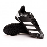 Bota Predator 20.4 Turf Niño Core black-White-Core black