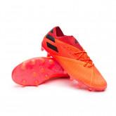 Chaussure de foot Nemeziz 19.1 AG Signal coral-Core black-Glory red
