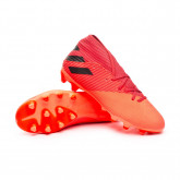 Chaussure de foot Nemeziz 19.3 MG Signal coral-Core black-Glory red