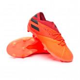 Football Boots Nemeziz 19.1 FG Kid Signal coral-Core black-Glory red
