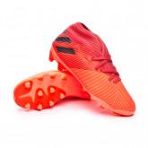 Chaussure de foot Nemeziz 19.3 MG Enfant Signal coral-Core black-Glory red