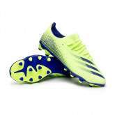 Zapatos de fútbol X Ghosted.3 MG Signal green-Energy Ink-Signal green