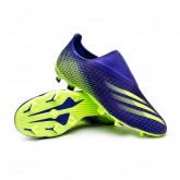 Zapatos de fútbol X Ghosted.3 LL FG Energy Ink-Signal green